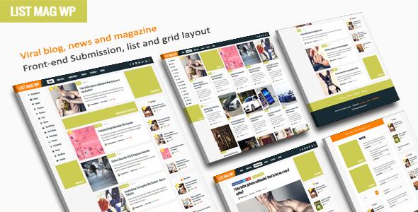 Wordpress Blog Template List Mag WP - A Responsive WordPress Blog Theme