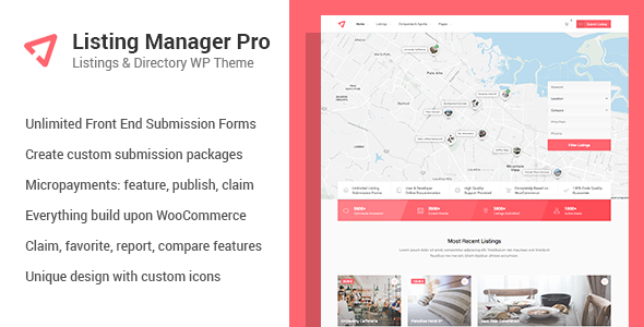 Wordpress Directory Template Listing Manager Pro - Directory Theme for WooCommerce
