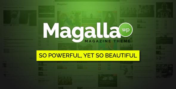 Wordpress Blog Template Magalla Magazine - News and Business Blog