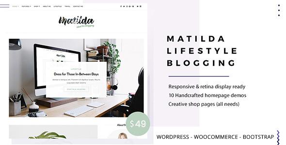 Wordpress Blog Template Matilda   Lifestyle Minimal WordPress Blog Theme