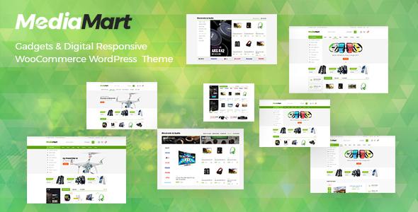 Wordpress Shop Template MediaMart - Gadgets & Digital Responsive WooCommerce WordPress Theme