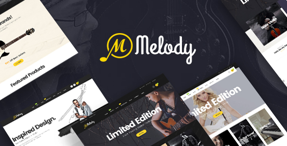 Wordpress Shop Template Melody - WordPress Theme for Musical Instruments & Music BandClub