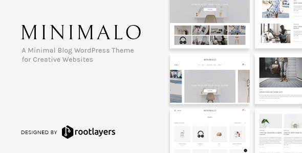 Wordpress Blog Template Minimalo - A Minimal Blog WordPress Theme for Creative Websites