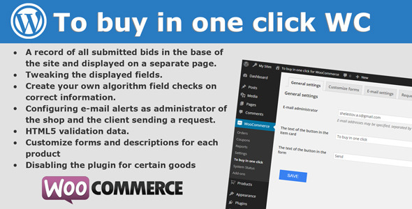 Wordpress E-Commerce Plugin To buy in one click for WooCommerce
