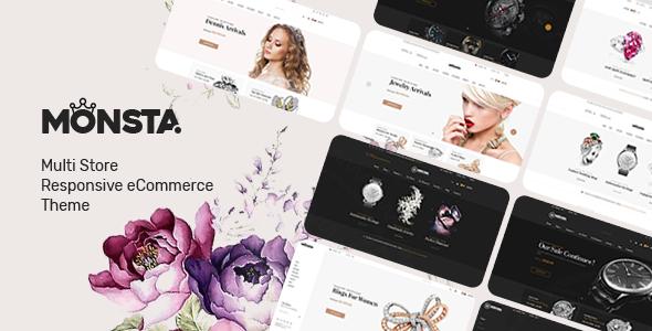 Wordpress Shop Template Monsta - Jewelry Theme for WooCommerce WordPress