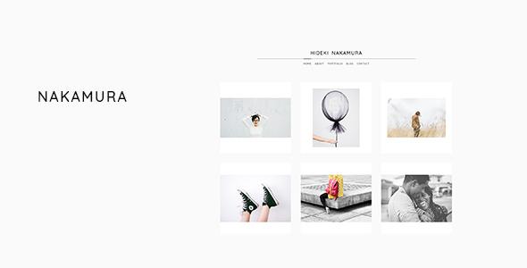 Wordpress Kreativ Template Nakamura - Minimal Photography and Portfolio WordPress Theme