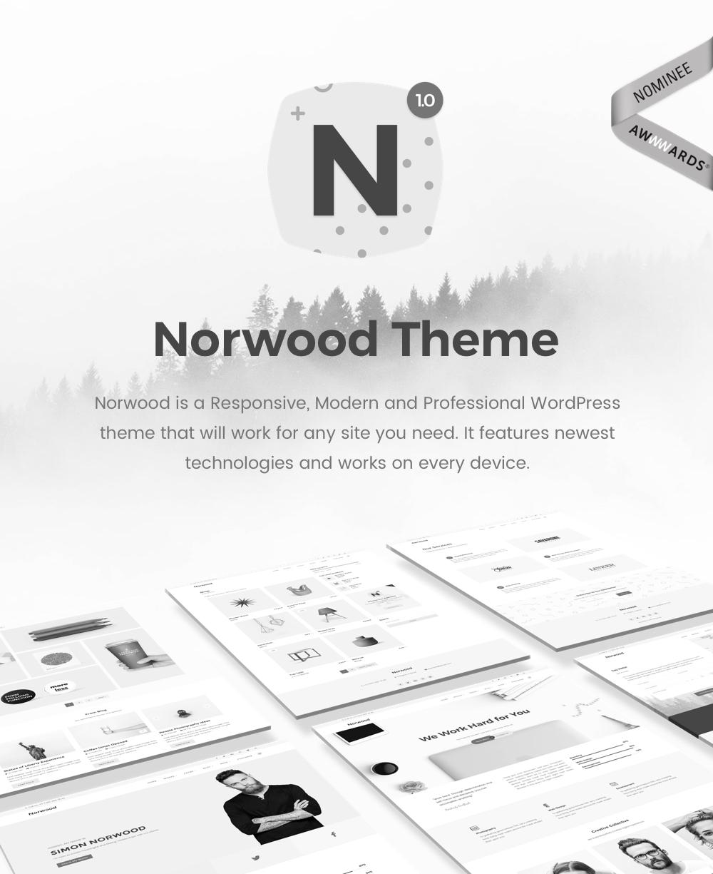 Wordpress Kreativ Template Norwood - Minimalist MultiPurpose Portfolio WordPress Theme