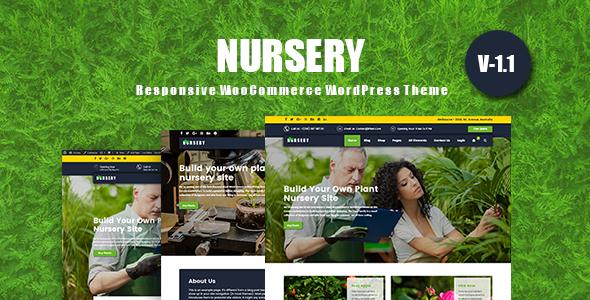 Wordpress Shop Template NurseryPlant - Responsive WooCommerce WordPress Theme