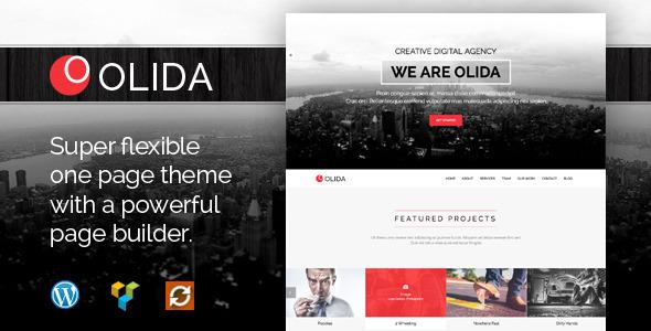 Wordpress Kreativ Template Olida - Creative Parallax One Page WP Theme