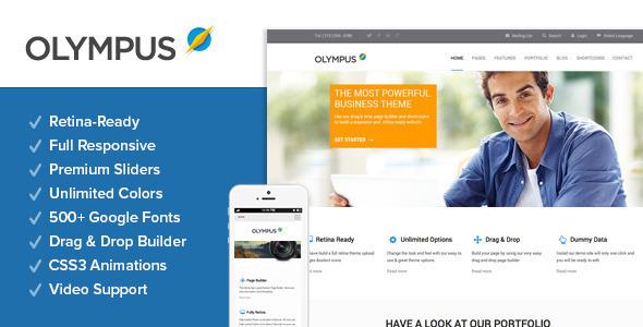 Wordpress Corporate Template Olympus - Responsive Multi-Purpose WordPress Theme