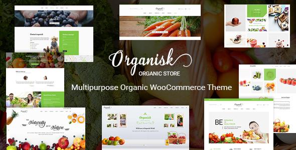 Wordpress Shop Template Organisk - Multipurpose Organic WooCommerce Theme