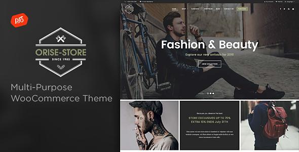 Wordpress Shop Template Orise Store - Multi-Purpose WooCommerce Theme