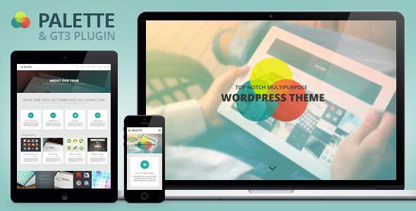 Wordpress Kreativ Template Palette - One Page Parallax WordPress Theme