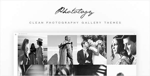 Wordpress Kreativ Template Photology - Clean Photography Gallery Themes