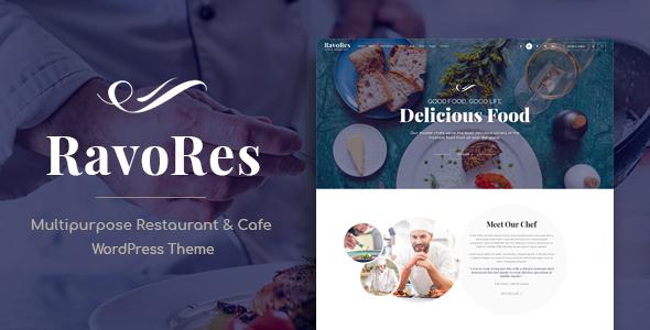 Wordpress Entertainment Template RavoRes - Multipurpose Restaurant & Cafe WordPress Theme