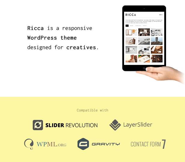 Wordpress Kreativ Template Ricca - A Fresh Responsive Theme For Creatives