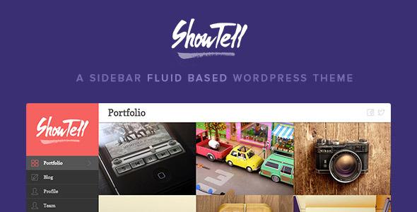Wordpress Kreativ Template Show+Tell - A Sidebar Fluid Based WordPress Theme
