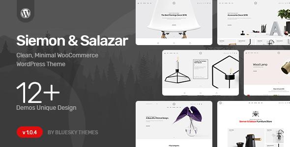 Wordpress Shop Template Siemon & Salazar - Clean, Minimal WooCommerce Theme