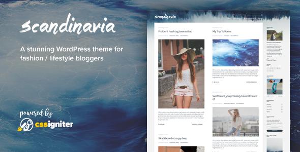 Wordpress Blog Template Scandinavia - Blogging Theme For WordPress