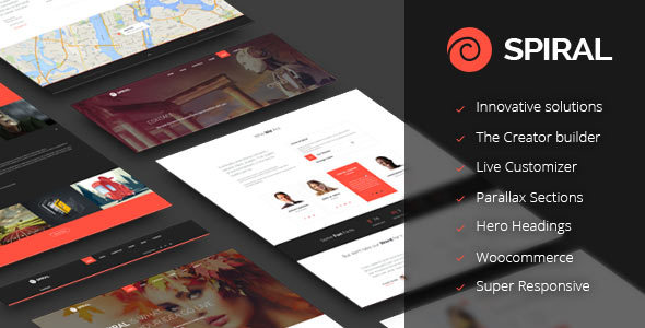 Wordpress Kreativ Template Spiral - Inovative Multipurpose Theme