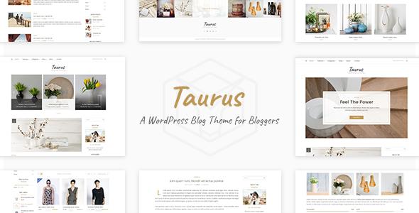 Wordpress Blog Template Taurus - Personal Blog Theme