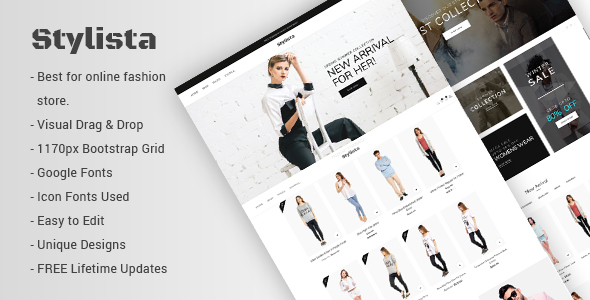 Wordpress Shop Template Stylista - Responsive Fashion WooCommerce WordPress Theme