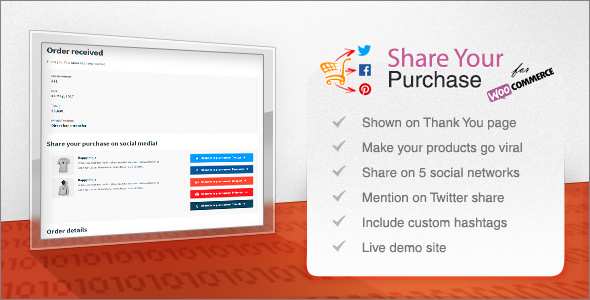 Wordpress E-Commerce Plugin Share Your Purchase for WooCommerce