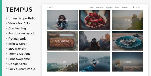 Wordpress Kreativ Template Tempus - Photography WordPress Theme