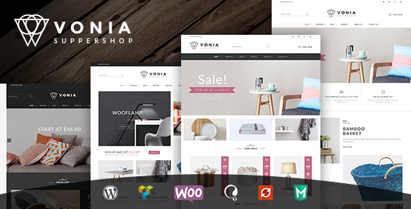 Wordpress Shop Template VG Vonia - Minimalist, Clean WooCommerce Theme