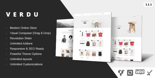 Wordpress Shop Template Verdu - Creative Multiuse eCommerce Theme - Minimalist WooCommerce