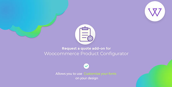 Wordpress E-Commerce Plugin Visual Products Configurator Request a quote Addon