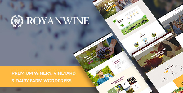 Wordpress Shop Template Vineyard, Winery, Wine Shop and Dairy Farm WordPress Theme