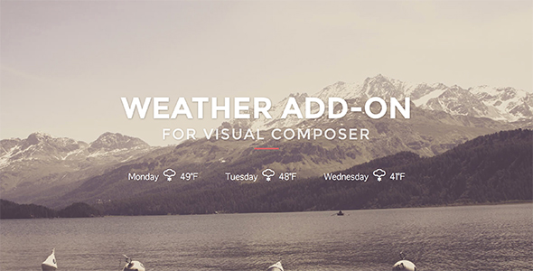 Wordpress Add-On Plugin Weather for Visual Composer