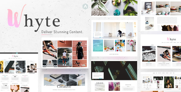Wordpress Blog Template Whyte | Creative WP Theme