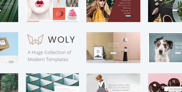 Wordpress Kreativ Template Woly - Multipurpose Theme with A Huge Collection of Modern Layouts for All Your Needs