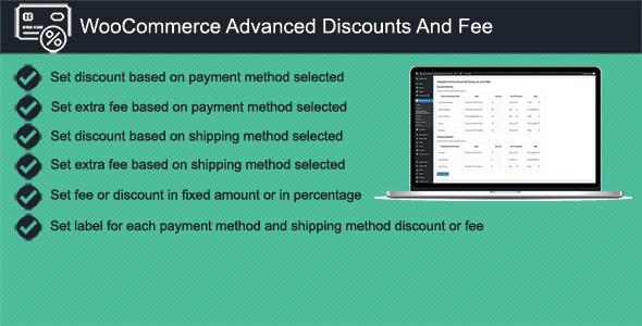 Wordpress E-Commerce Plugin WooCommerce Advanced Discounts and Fees