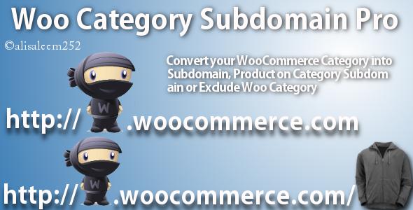 Wordpress E-Commerce Plugin WooCommerce Category Subdomain Pro