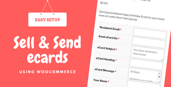 Wordpress E-Commerce Plugin WooCommerce eCards WordPress Plugin