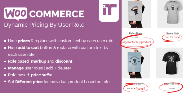 Wordpress E-Commerce Plugin Woocommerce Dynamic Pricing By User Role