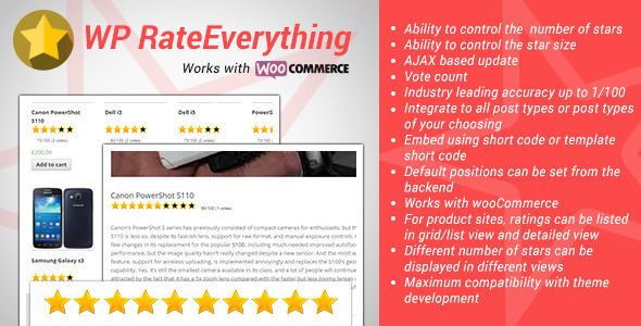 Wordpress Add-On Plugin WordPress Rate Everything Star Rating Plugin