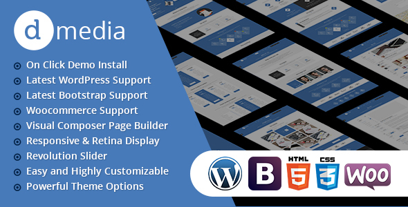 Wordpress Kreativ Template dMedia - Creative Multipurpose WordPress Theme