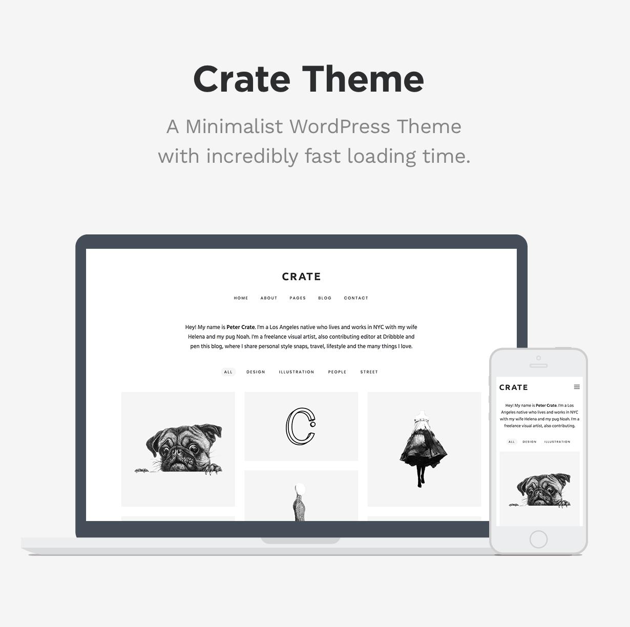 Kiste - Minimalistisches WordPress-Layout