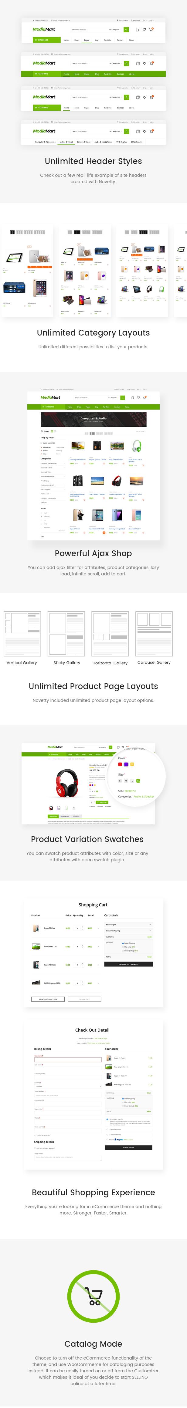 MediaMart - Gadgets und digitales Responsives WooCommerce-WordPress-Template