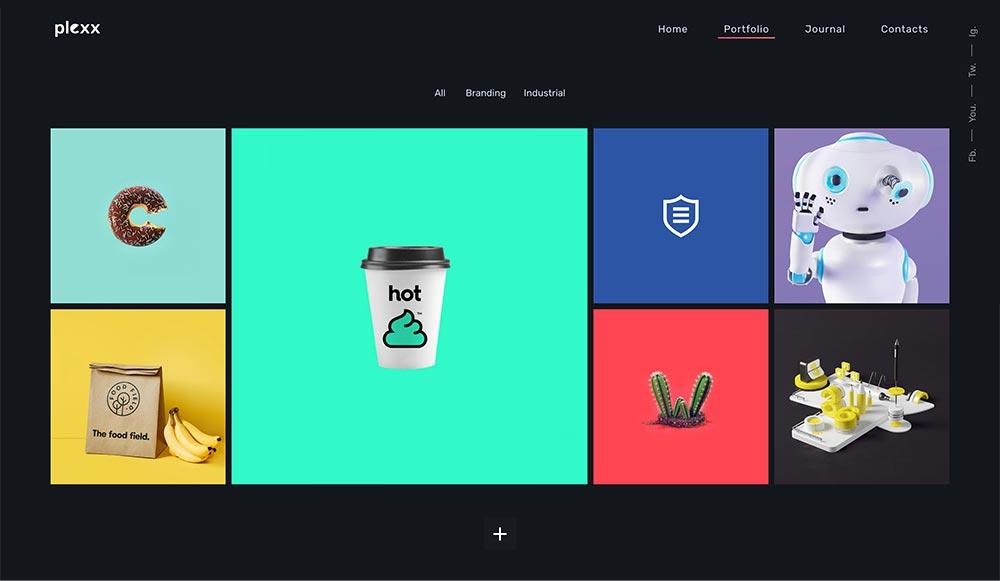 Plexx - Portfolio und Videogalerie für Agentur und Studio