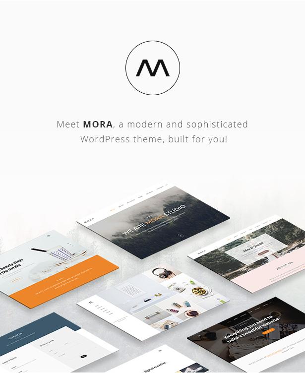 Mora - Kreatives Portfolio & Fotografie-Thema
