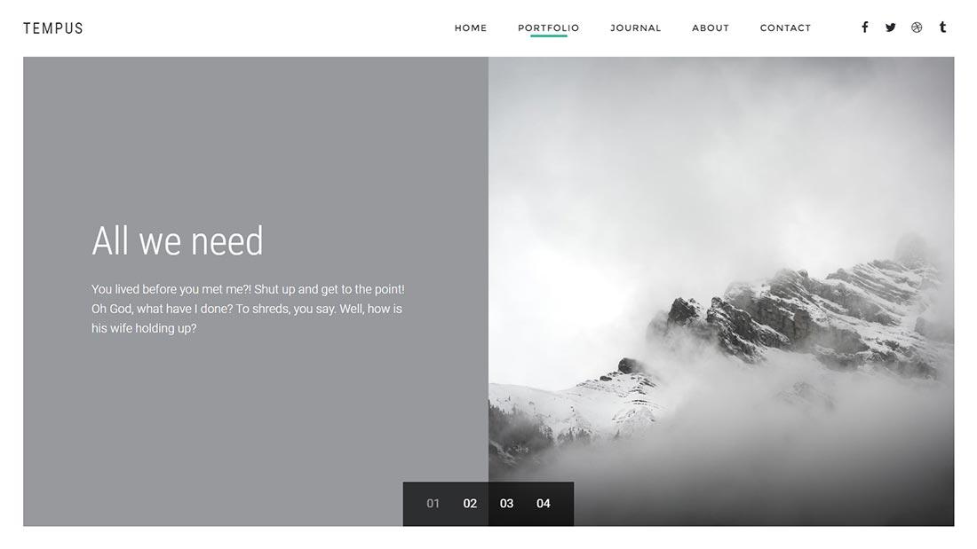 Tempus - Fotografie-WordPress-Template