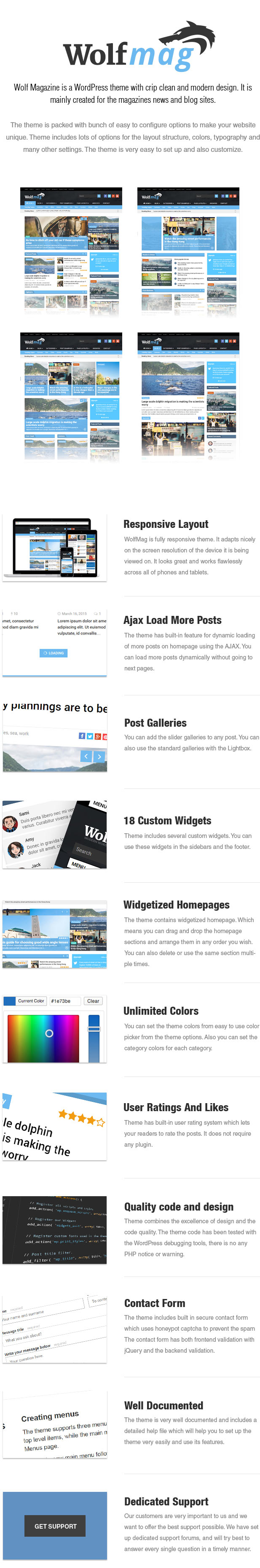 Wolf - Responsive WordPress Magazine Vorlage