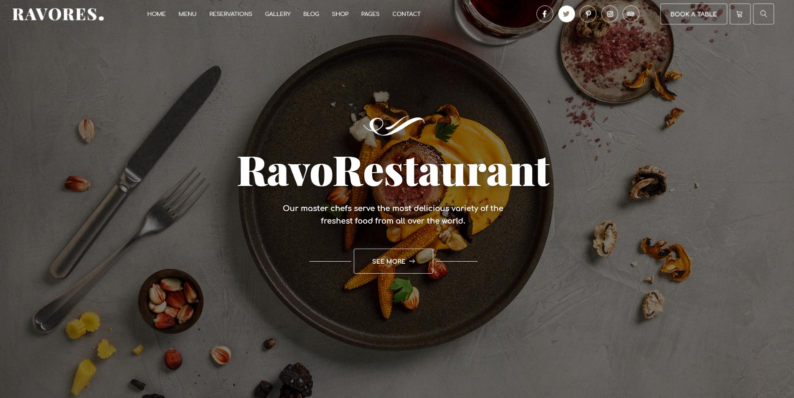 Mehrzweck Restaurant & Cafe WordPress Template