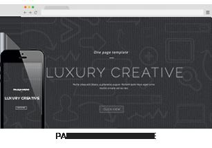 VesaUP Parallax One Page WordPress Layout