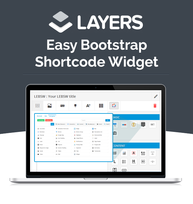 Layers - Easy Bootstrap Shortcodes Widget